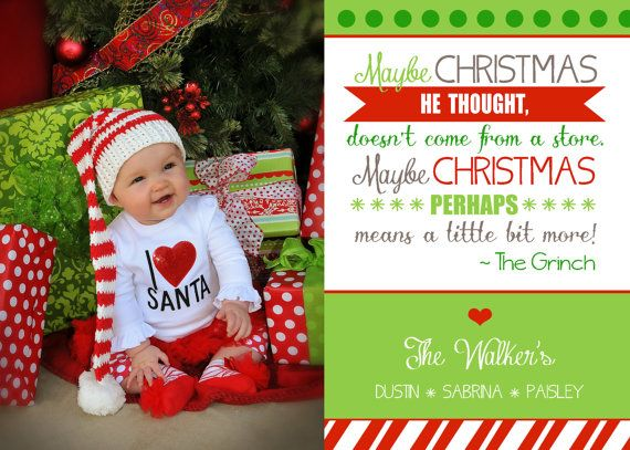 This Item Is Unavailable Etsy Printable Christmas Cards Family Photo Cards Grinch Quotes