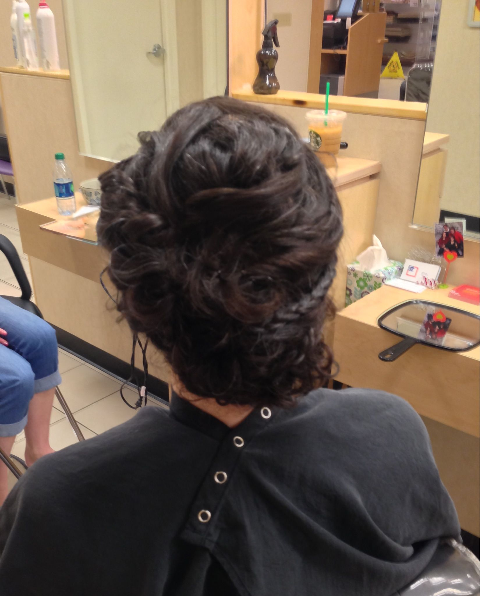 Curly haired bridesmaid, by Joy M, Algonquin JCP salon #8479153268