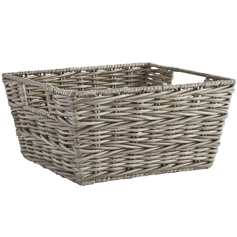 Collin Gray Wicker Shelf Storage Baskets