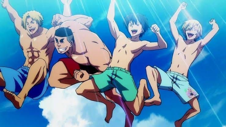 Grand Blue Was Awesome Its Def One Of The Funniest Anime I Have Ever Seen It Had Me Laughing At Every New Scene I Loved The Sto Blue Anime Anime Anime