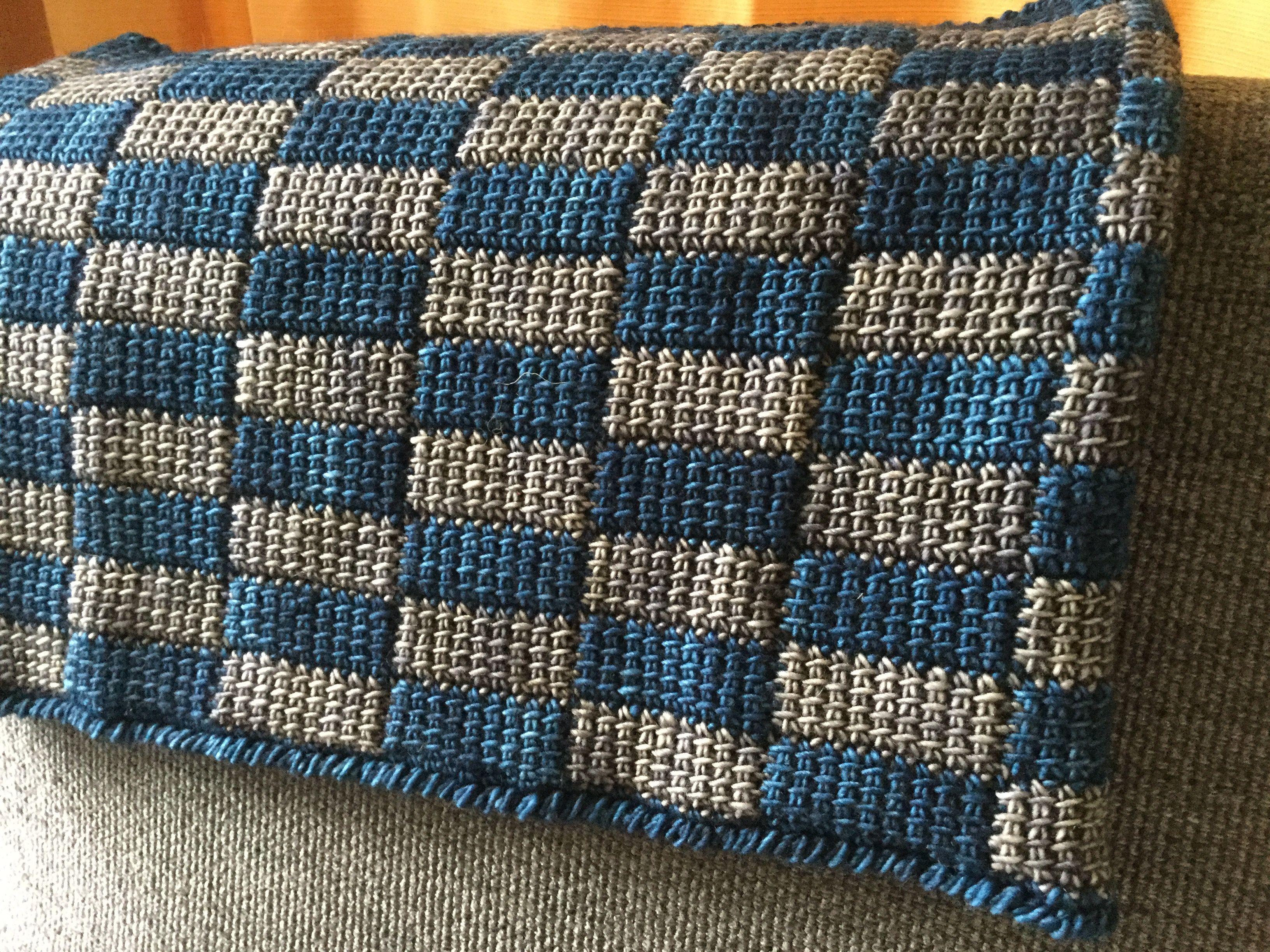 Tunisian crochet entrelac, corner start. Instead of making standard ...