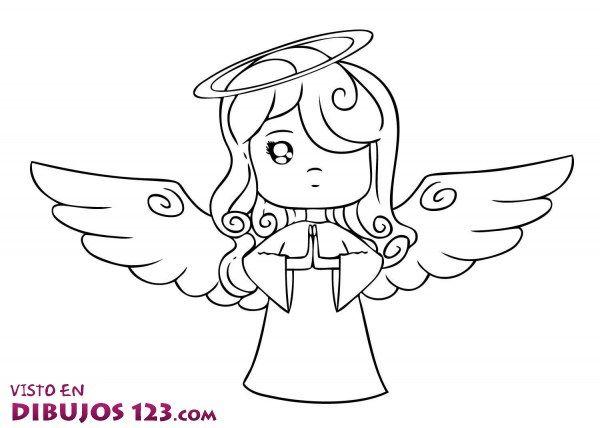 La Nina Angel Ok Angeles Para Colorear Angeles Dibujos Angel Para Dibujar