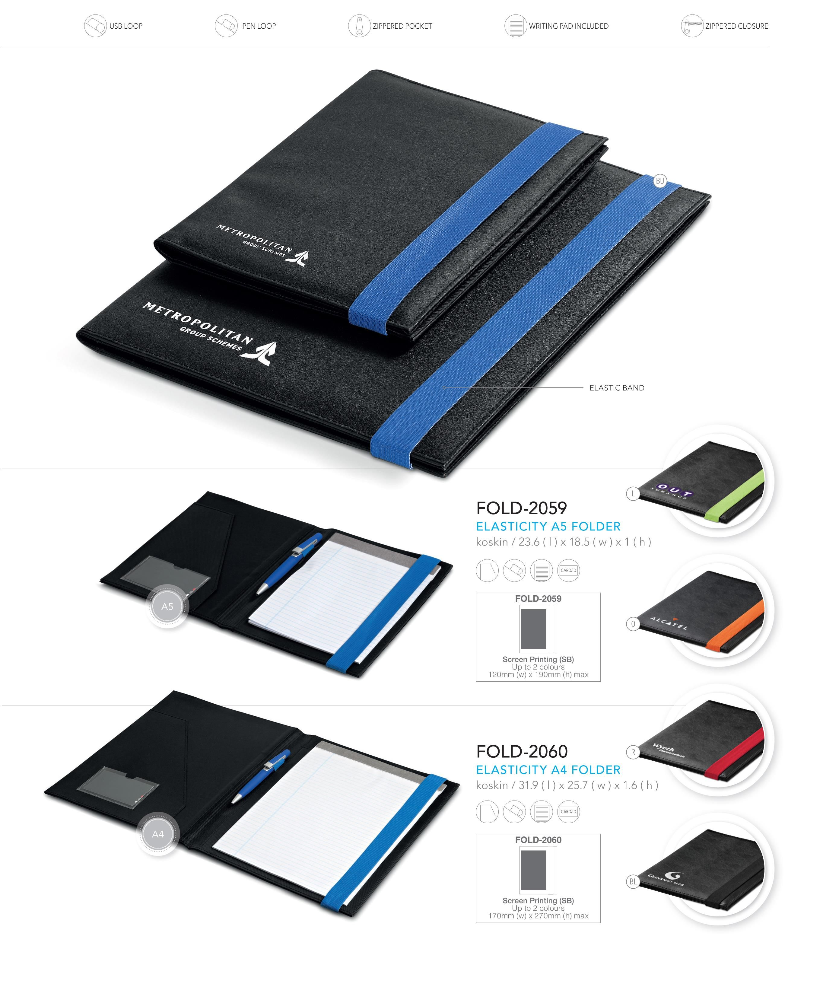 Elasticity A5 Folder With Images Corporate Gifts Gift