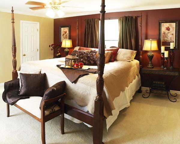 room maroon bedroom decor - Maroon Bedroom Interior