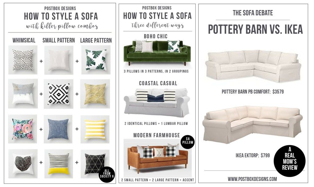 One Room Challenge Week #2: How to Style a Sofa +Pillow ...
