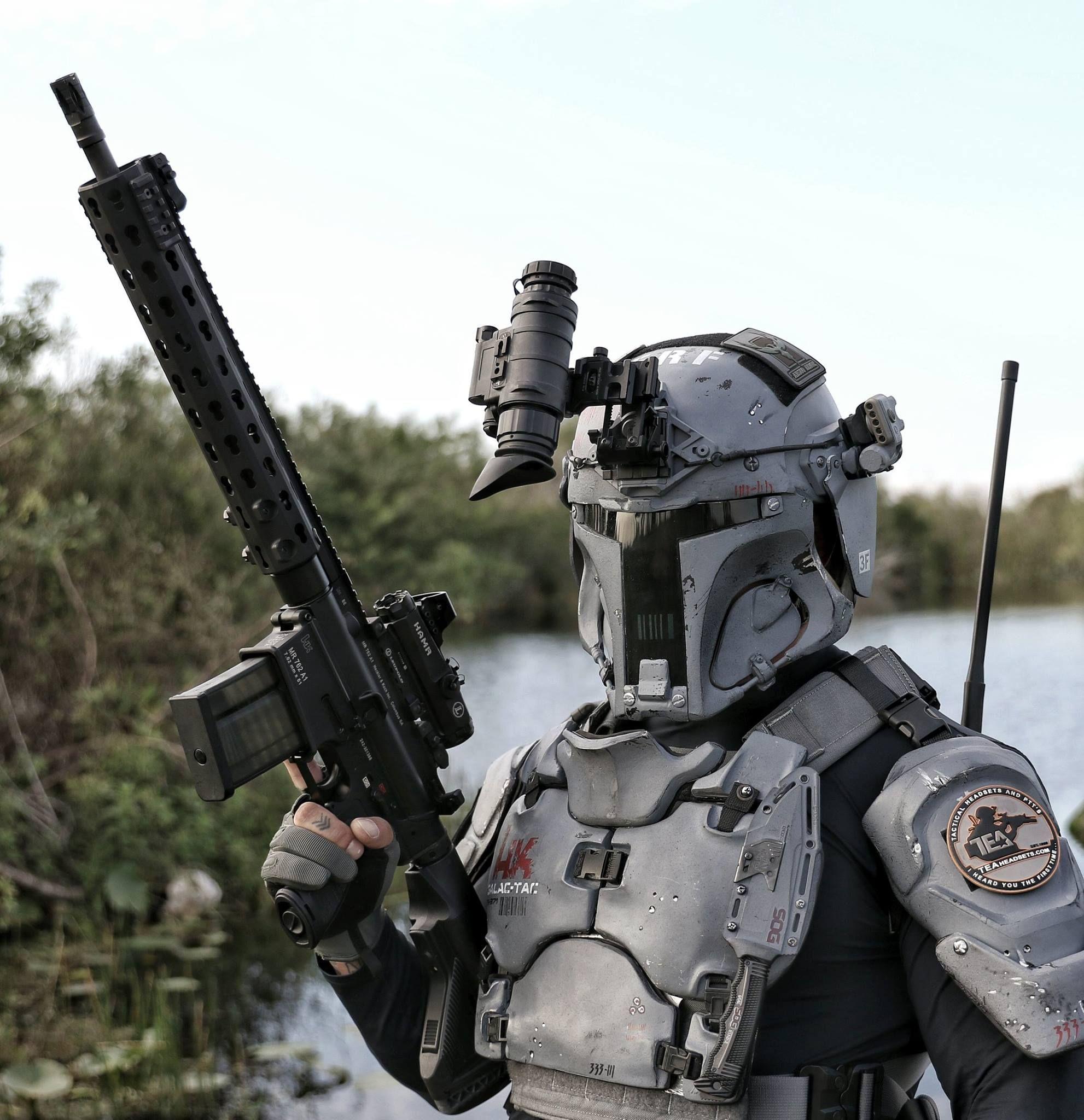 armor based on Boba Fett (mandalorian)