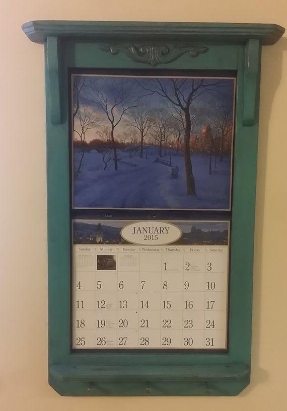 Calendar Wooden Frame : Distressed calender frame fit lang calenders by