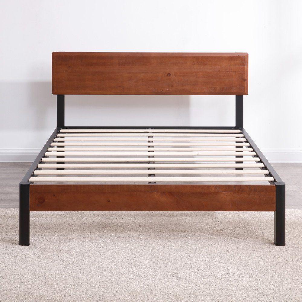 Classic Brands Decoro Portland Wood Slat And Metal Platform Bed