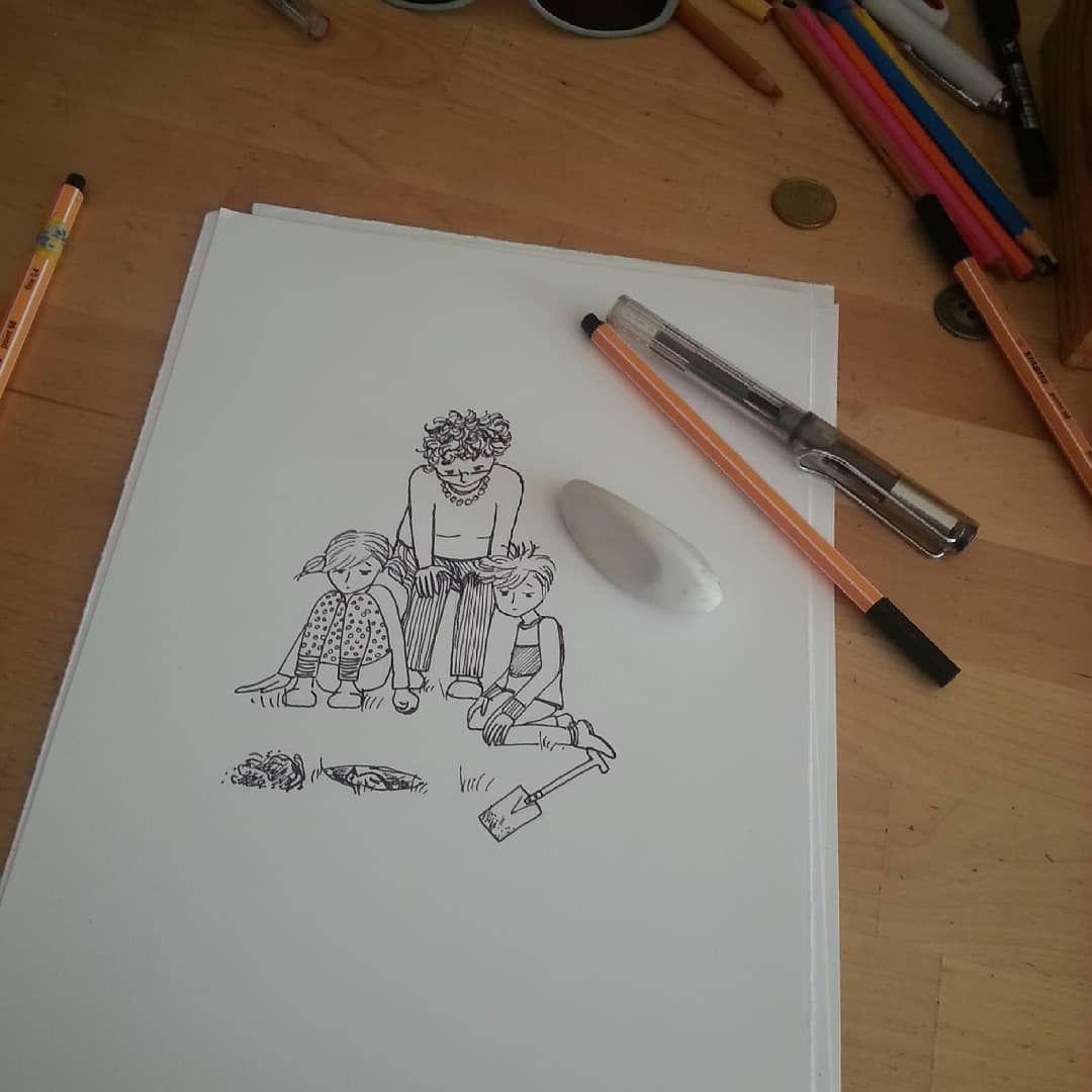 Work In Process Was Wird Da Vergraben Und Betrauert Und Warum Seid Ihr Neugierig Diekleineomi Kinderbuch Illu In 2020 Electronic Products Electronics Computer