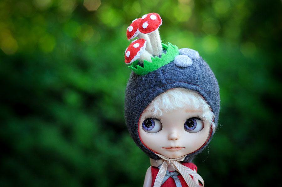 Blythe Doll Custom Blythe Blythe Beanie Green Blythe Hat Blythe Blythe Hat Blythe Custom Blythe Helmet Blythe Crochet Hat