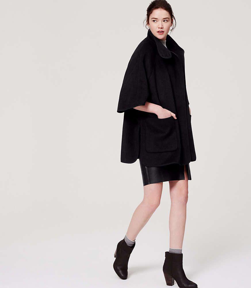 Shop LOFT for stylish women's clothing. You'll love our irresistible Cape Jacket - shop LOFT.com today! #loftclothes