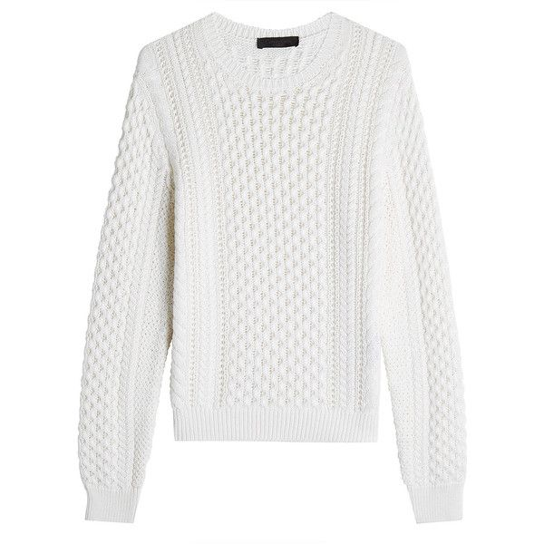 Calvin Klein Collection Cotton and Cashmere Cable Knit Pullover ...