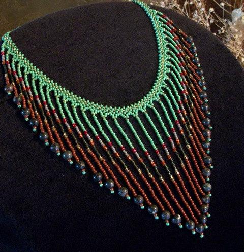 Glass & Stone Beaded Bib Necklace Necklaces for Women por Rs4U