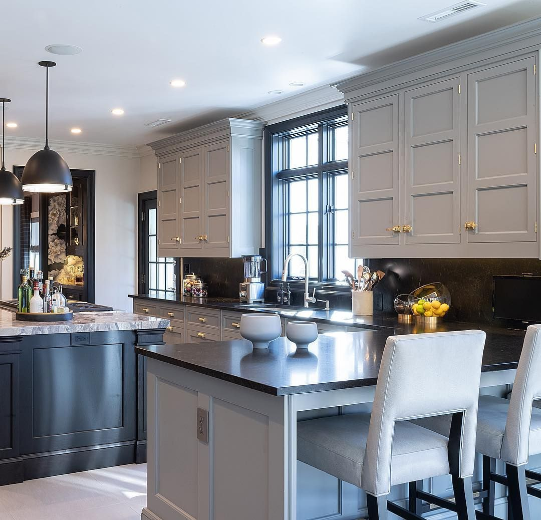 this beautiful soft grey cabinet finish sets the tone in one of my favorite kitchens ch on kitchen decor grey cabinets id=91937