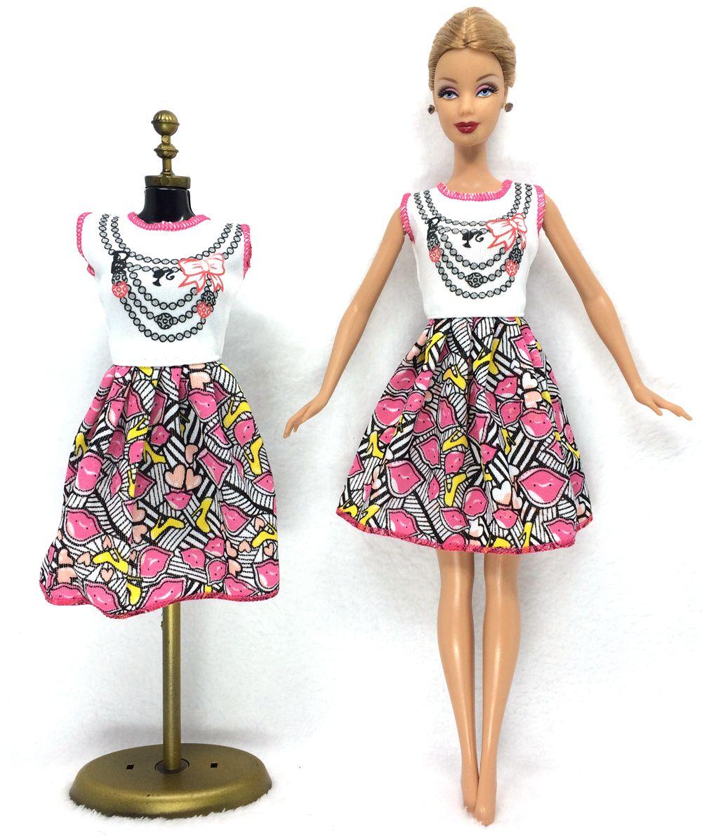 Nk 2016 più nuovo abito bambola bella partito handmade clothestop moda vestito per bambola barbie nobile migliore bambino girls'gift 028a