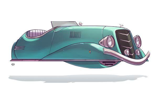 Ze future v hicules r tro futuristes par ido yehimovitz geek retro futuriste voiture - Modele dessin voiture ...