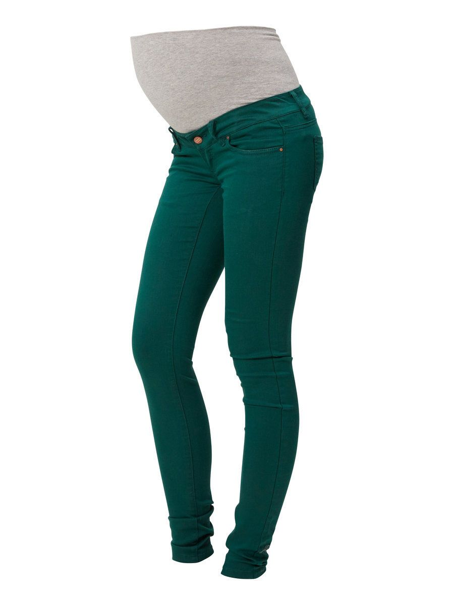 59db602f71a58 Green maternity jeans if you dare - MAMALICIOUS! Colored Skinny Jeans, Slim,  Maternity