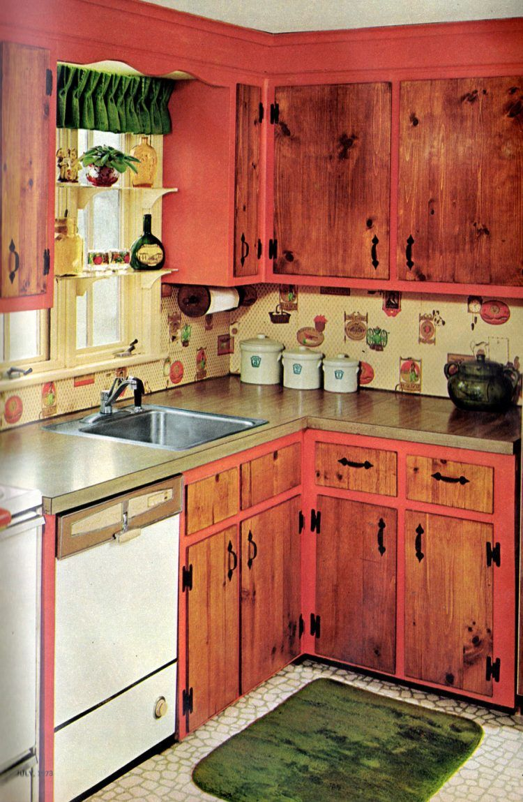 18 Cute Cheap Kitchen Cabinet Facelift Ideas From The 60s 70s In 2020 Vintage Kitchen Cabinets Cheap Kitchen Cabinets Kitchen Cabinets