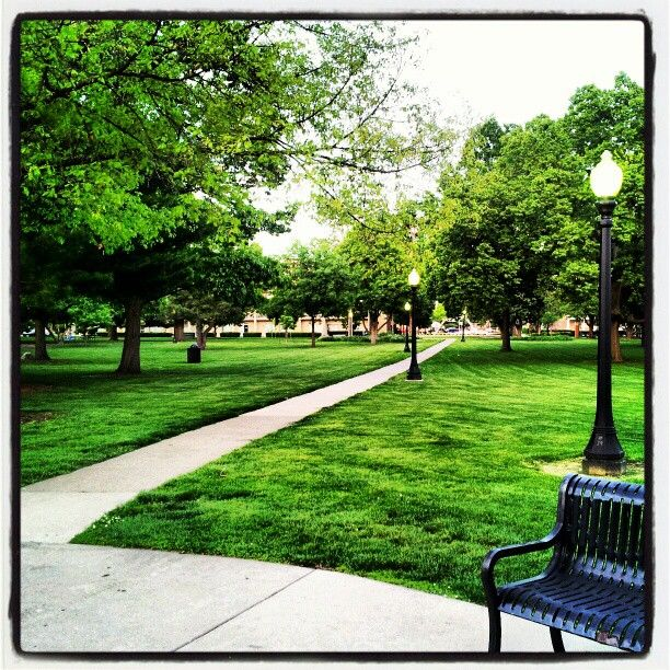 Path in Westside Park, Champaign, Illinois