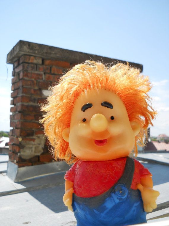Karlsson On The Roof Rubber Doll Ussr Toy 1970s By Dereviyvintage Rubber Doll Etsy Funny Toys