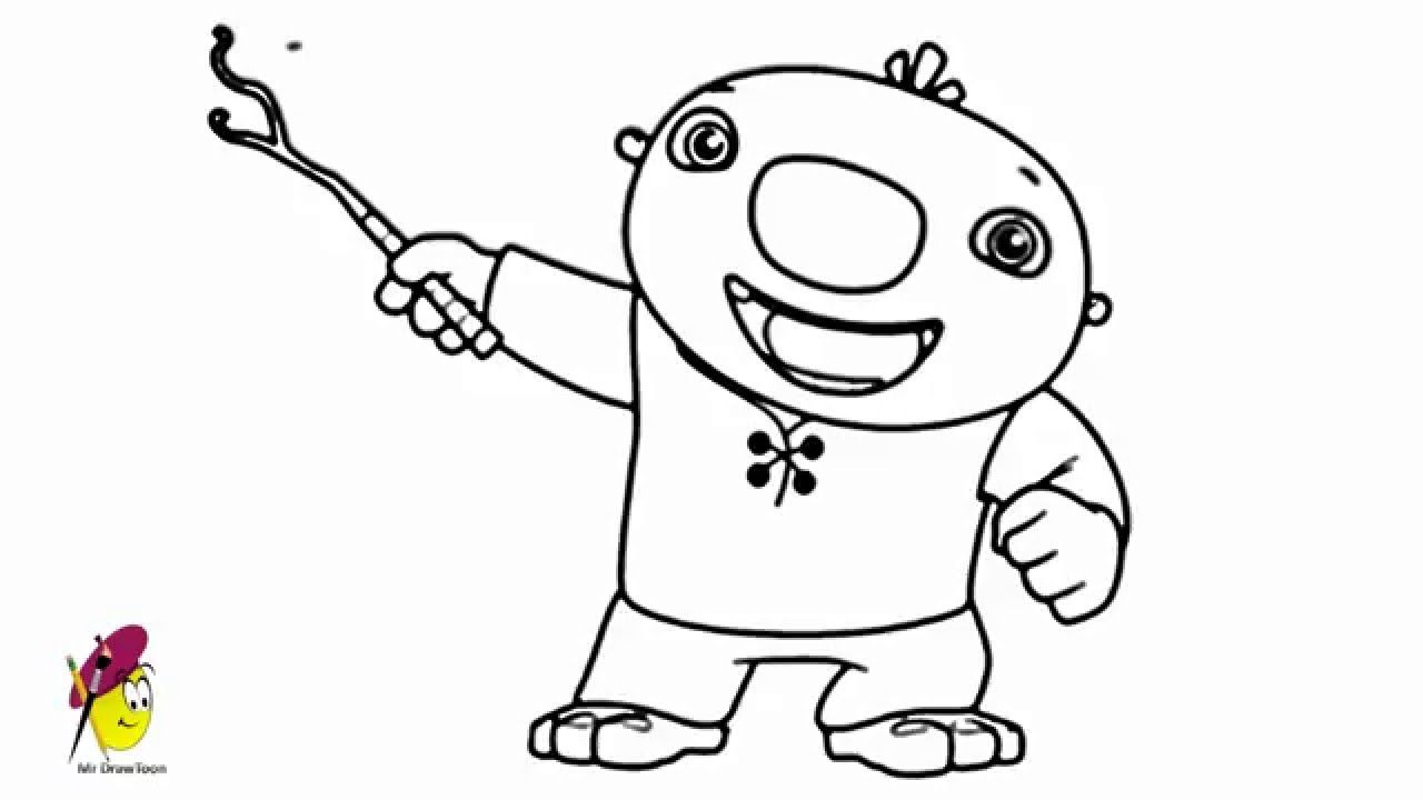 Wallykazam Wally Trollman How To Draw Wally Trollman From Wallykazam Colouring Pages Drawings Color