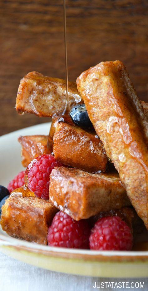 Easy Cinnamon French Toast Sticks #recipe on justataste.com