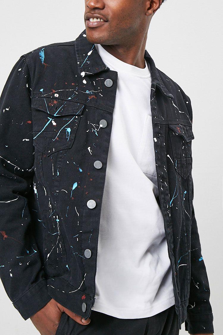 Paint Splatter Denim Jacket Sponsored Affiliate Splatter Paint Jacket Denim Splatter Jacket Jackets Denim Fashion [ 1125 x 750 Pixel ]