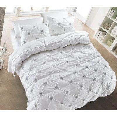 Nmk Textiles Inc Diamond Pintuck 3 Piece Duvet Cover Set Size Full Queen Color White Duvet Cover Sets Pintuck Duvet Cover Pintuck Duvet