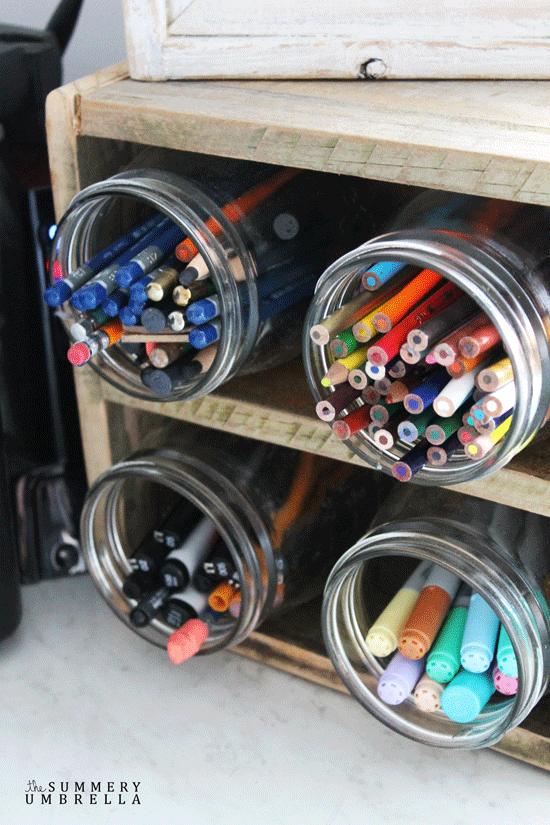 DIY Reclaimed Wood Desktop Organizer | Desktop ...