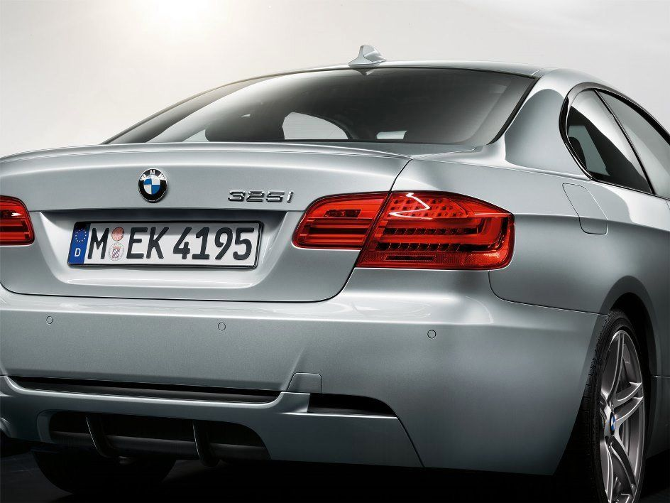 Rear of the BMW 3 Series Coupé M Sport Edition with Sport Diffusor ...