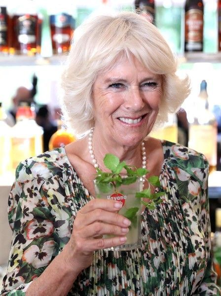 Camilla Parker Bowles Photos Photos: The Prince Of Wales And Duchess Of Cornwall Visit Cuba #visitcuba Camilla, Duchess of Cornwall with a mojito drink as she and Prince Charles, Prince of Wales visit a paladar called Habanera, a privately owned restaurant on March 27, 2019 in Havana, Cuba. Their Royal Highnesses have made history by becoming the first members of the royal family to visit Cuba in an official capacity. #visitcuba