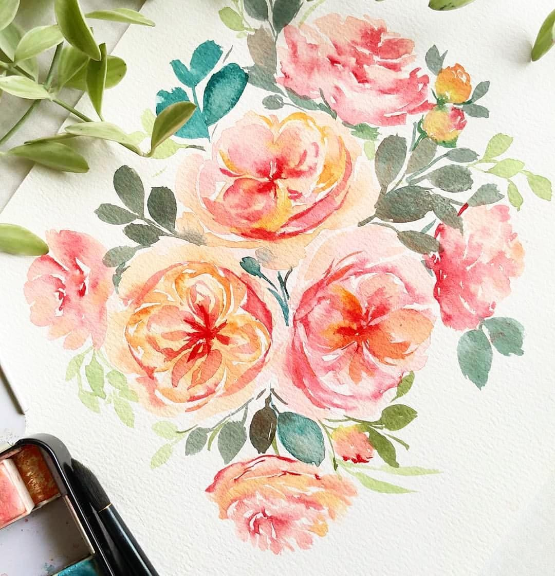 Repost Estherpeck I Have Been Painting David Austin Roses