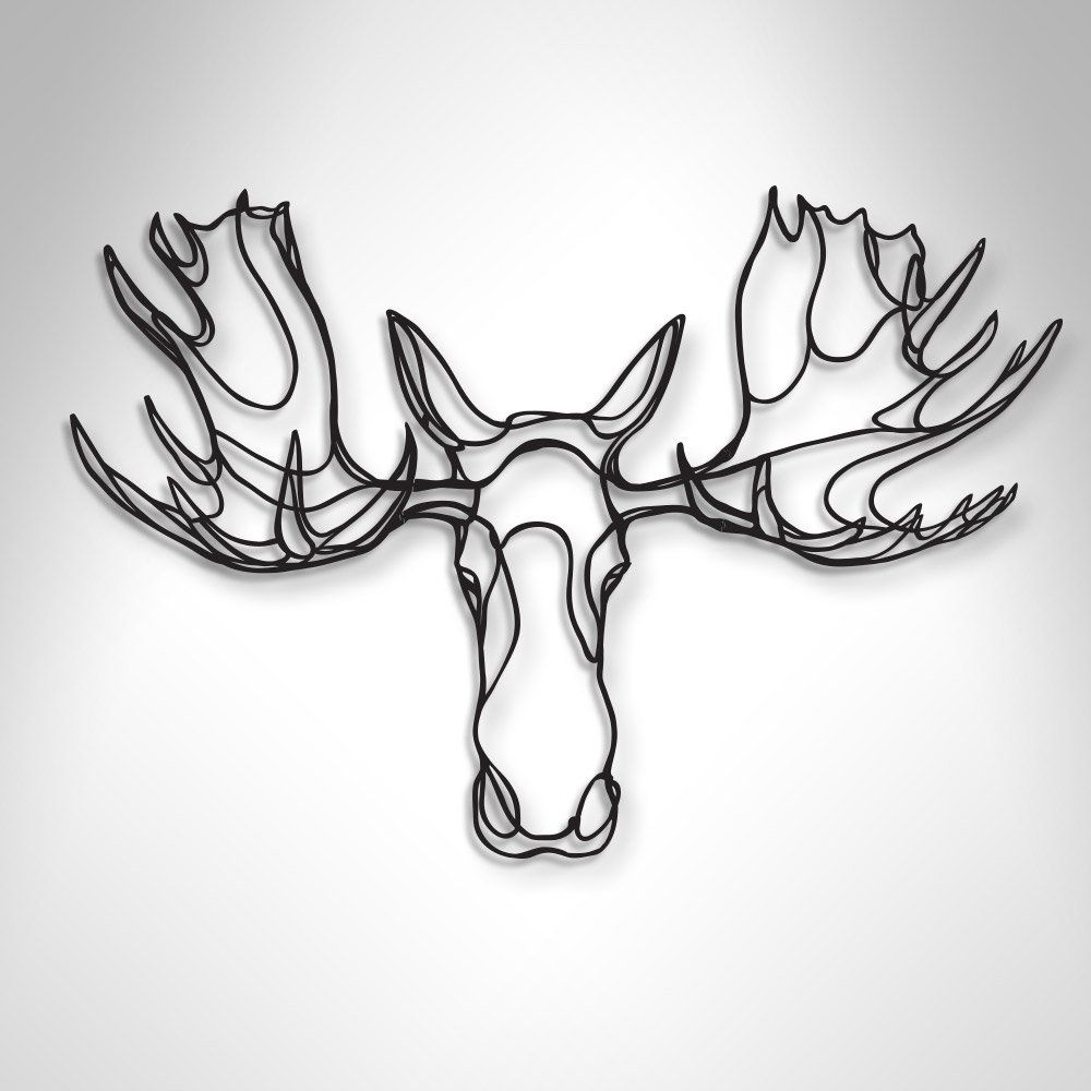 98bf314e2 The Respectful Moose Trophy wooden sign is a sustainable home design piece  by Antoine Tesquier Tedeschi for Respectful Animal Trophy series. The  unique wall ...