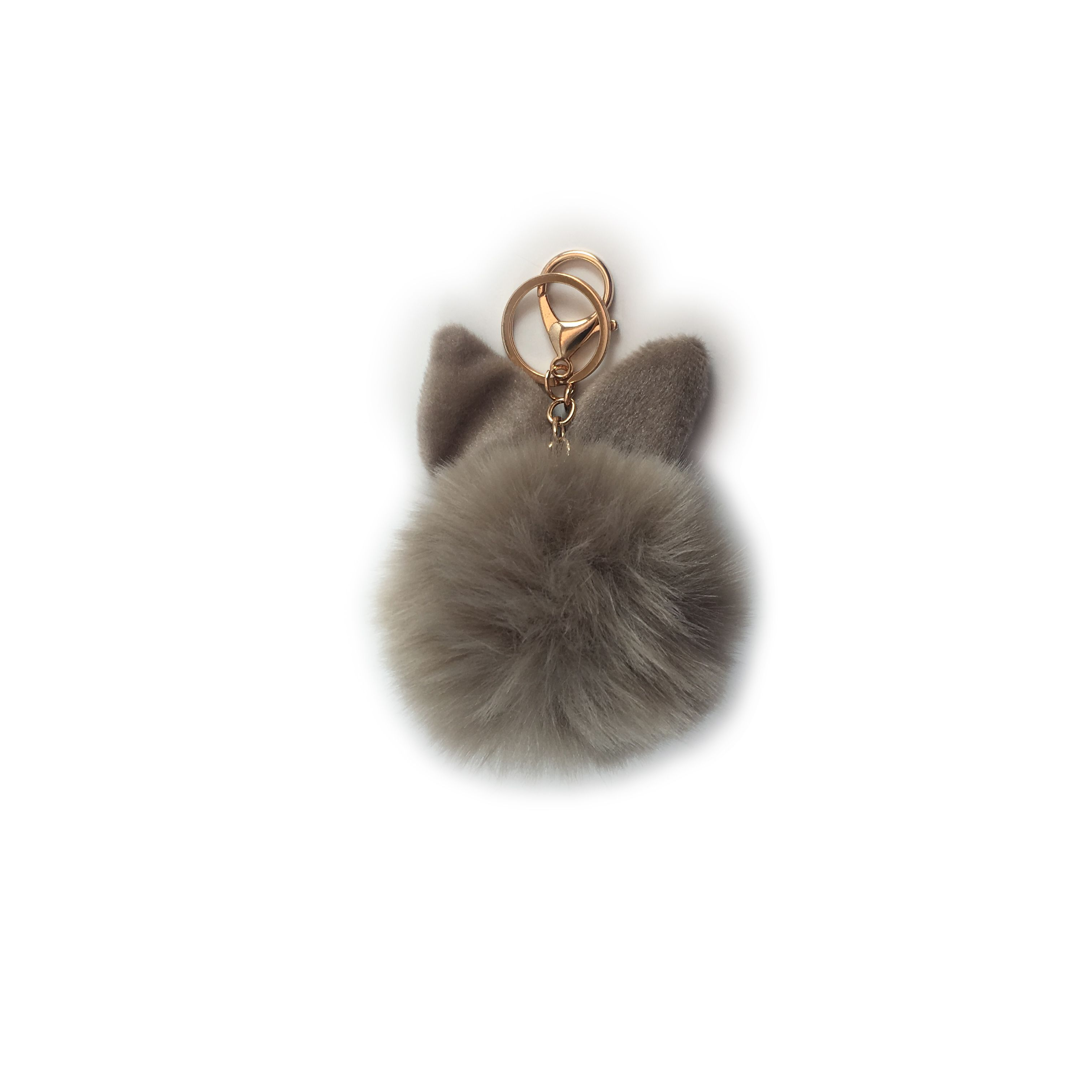 Rabbit Eat Fur Pom Pom Keychain - Accessorize your favourite handbag with the softest rabbit ear fur pom pom to complete your cute look for the next GNO!