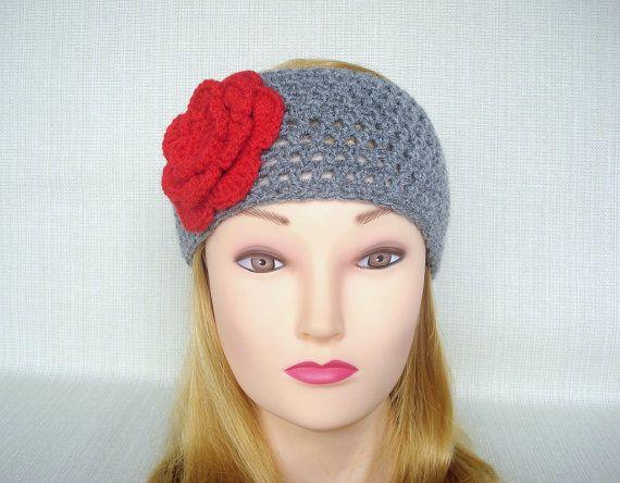 Crochet Head Band Crochet Headband Ear Warmer With Flower Crochet