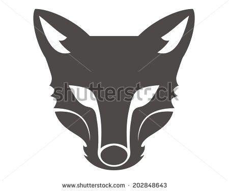 Fox Head Silhouette Animated Animals Animal Faces Fox Illustration