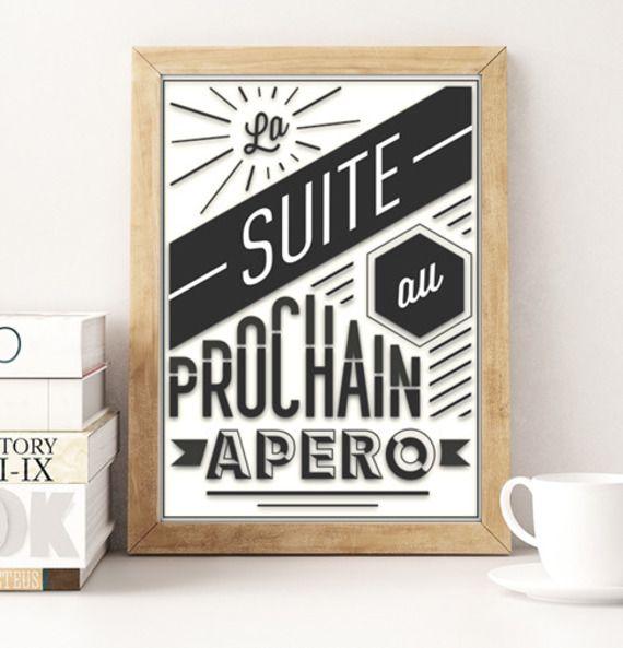 Poster humour affiche moderne cr ation originale graphique illustration 30x42cm jolis mots en - Poster cuisine moderne ...