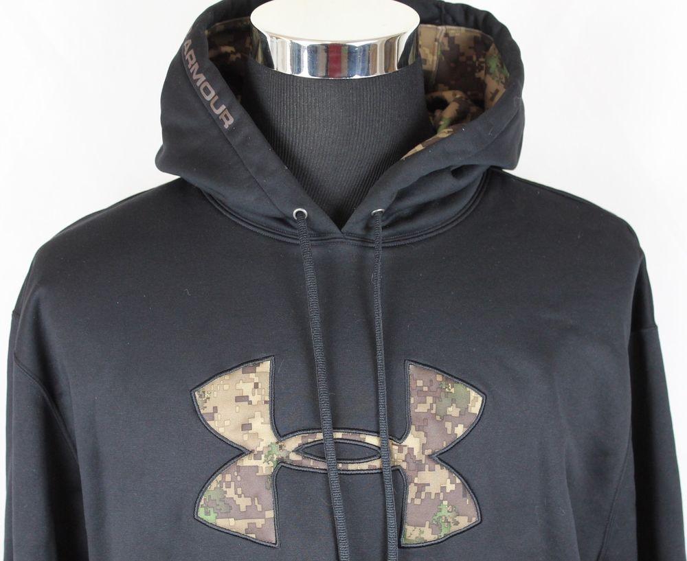 Under Armour Mens Pullover Black Camo Logo 100 Polyester Hoodie Jacket Sz Xl Under Armour Sweatshirts Black Camo Pullover Men [ 817 x 1000 Pixel ]