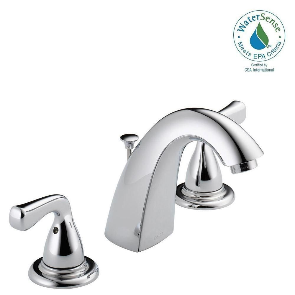 Delta Foundations 8 In Widespread 2 Handle Bathroom Faucet In