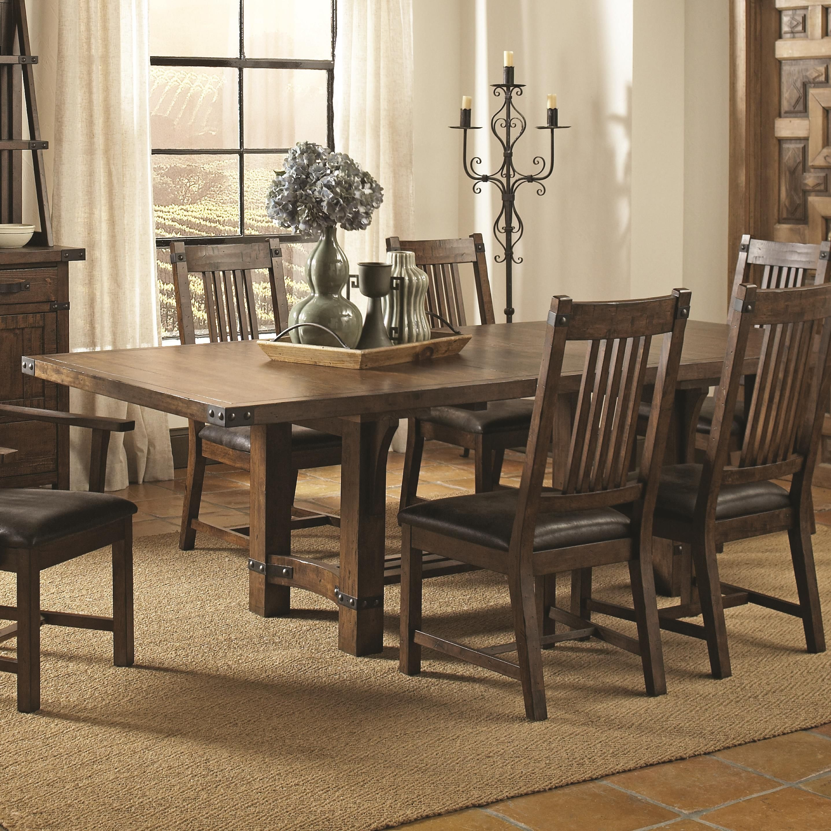 Dining Table  Coaster Padima Rustic Roughsawn Dining Table With Entrancing Coaster Dining Room Furniture Inspiration