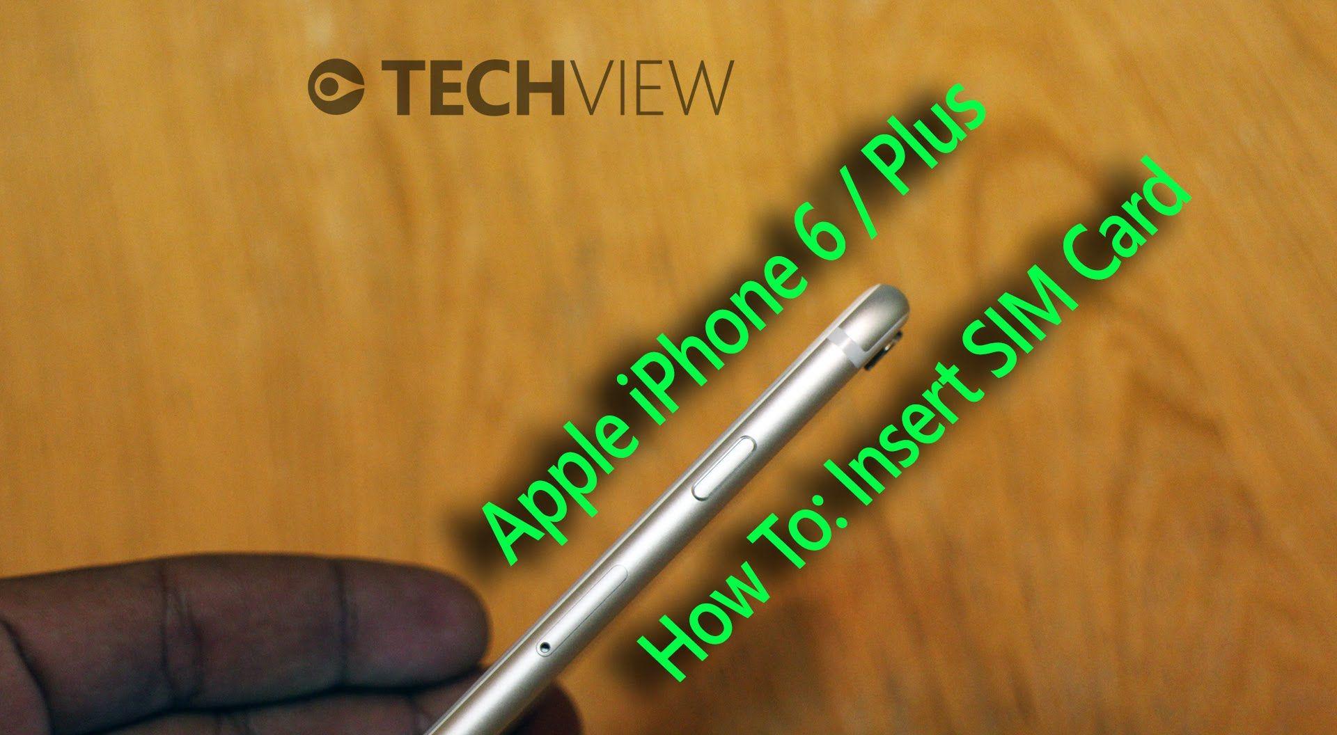 Apple iphone 6 6 plus how to insert sim card apple