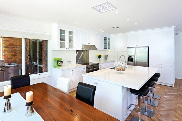 This Is A Good Example Of A Transitional Kitchen In Melbourne With