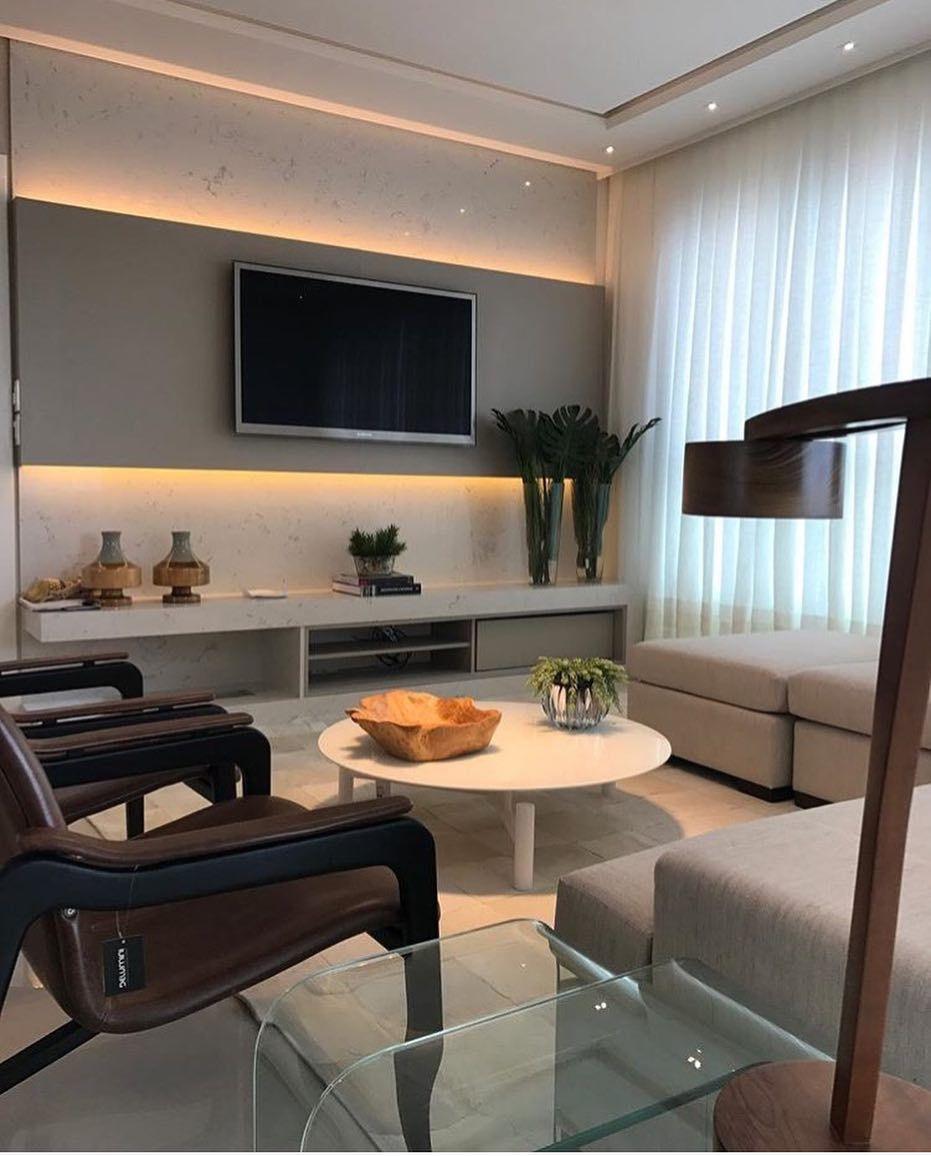 Pin By J Ssica Tonello Arquitetura Interiores On Livings Salas  -> Fotos De Salas De Tv