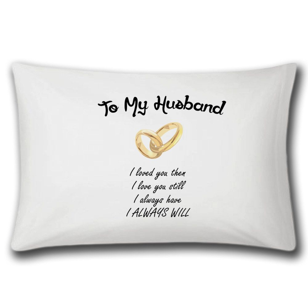 To My Husband Pillow Case (With images