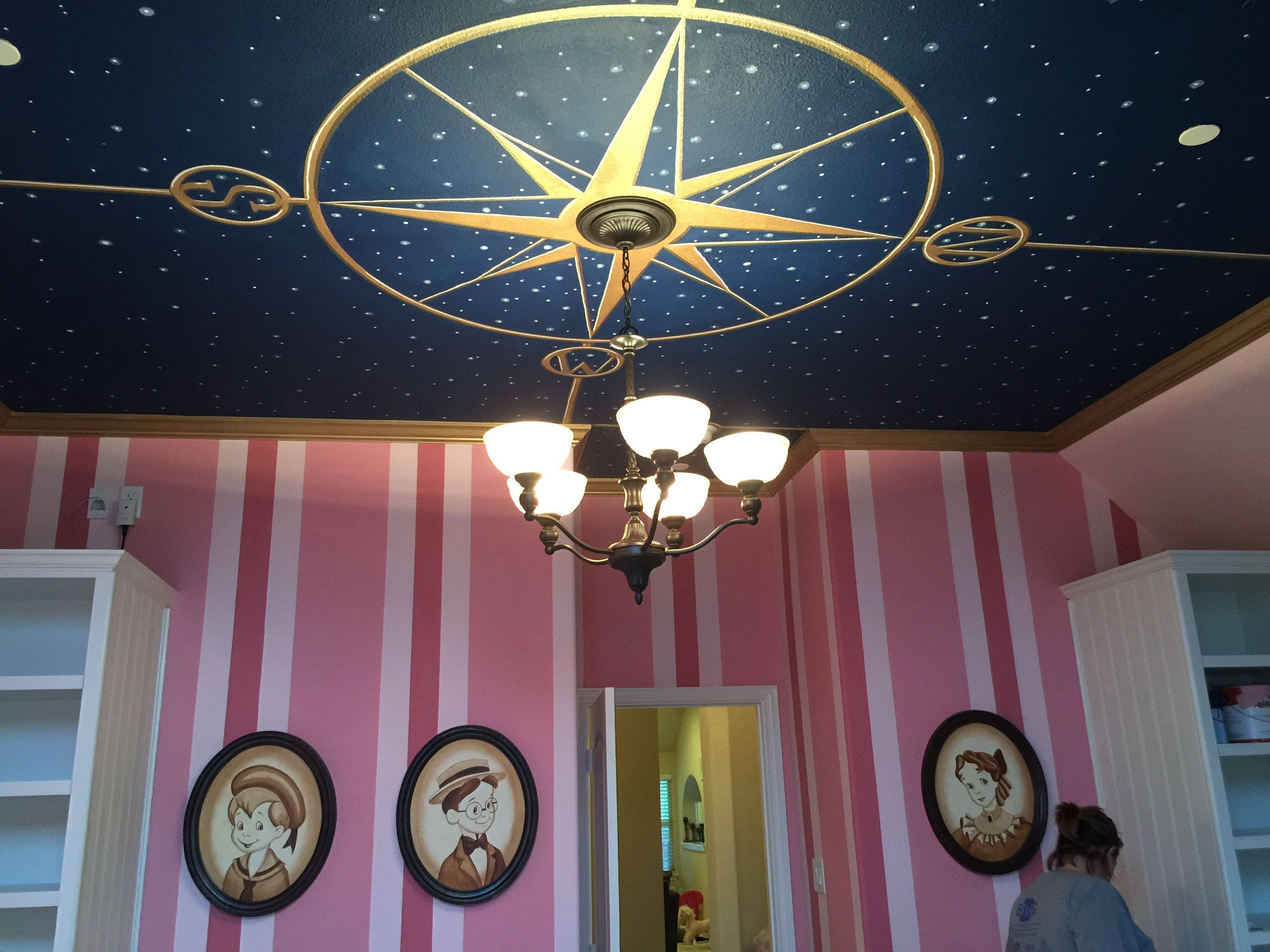 Peter Pan Nursery Playroom Mural Ceiling #gypsysetup