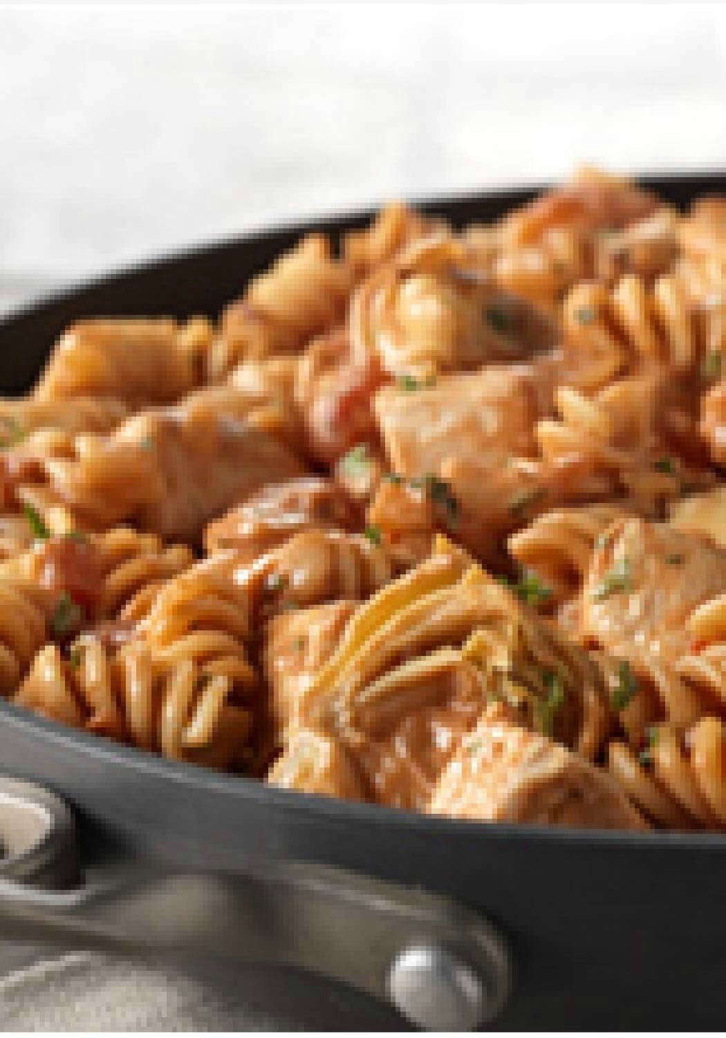 Rotini Spicy Chicken In Creamy Tomato Sauce This Quick Chicken And Pasta Recipe Gets