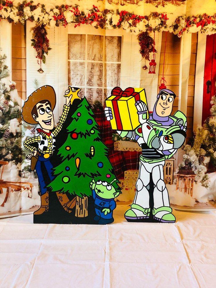 Disney Toy Story Christmas Yard Art Set Disney Yard Art Etsy In 2020 Christmas Yard Art Christmas Yard Decorations Christmas Yard