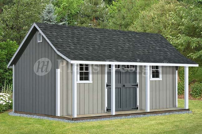 14 X 16 Cape Code Storage Shed With Porch Plans P81416 Free Material List 610708151746 Ebay Shed With Porch Building A Shed Diy Shed Plans