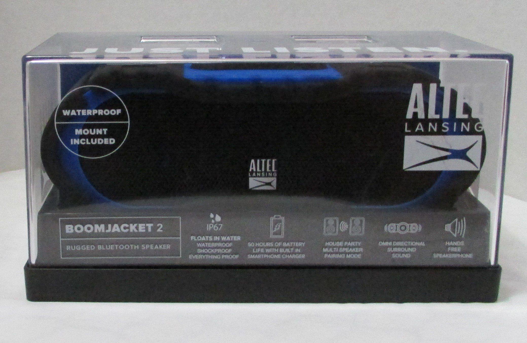 Altec Lansing Boom Jacket 2 Rugged Bluetooth Speaker Blue