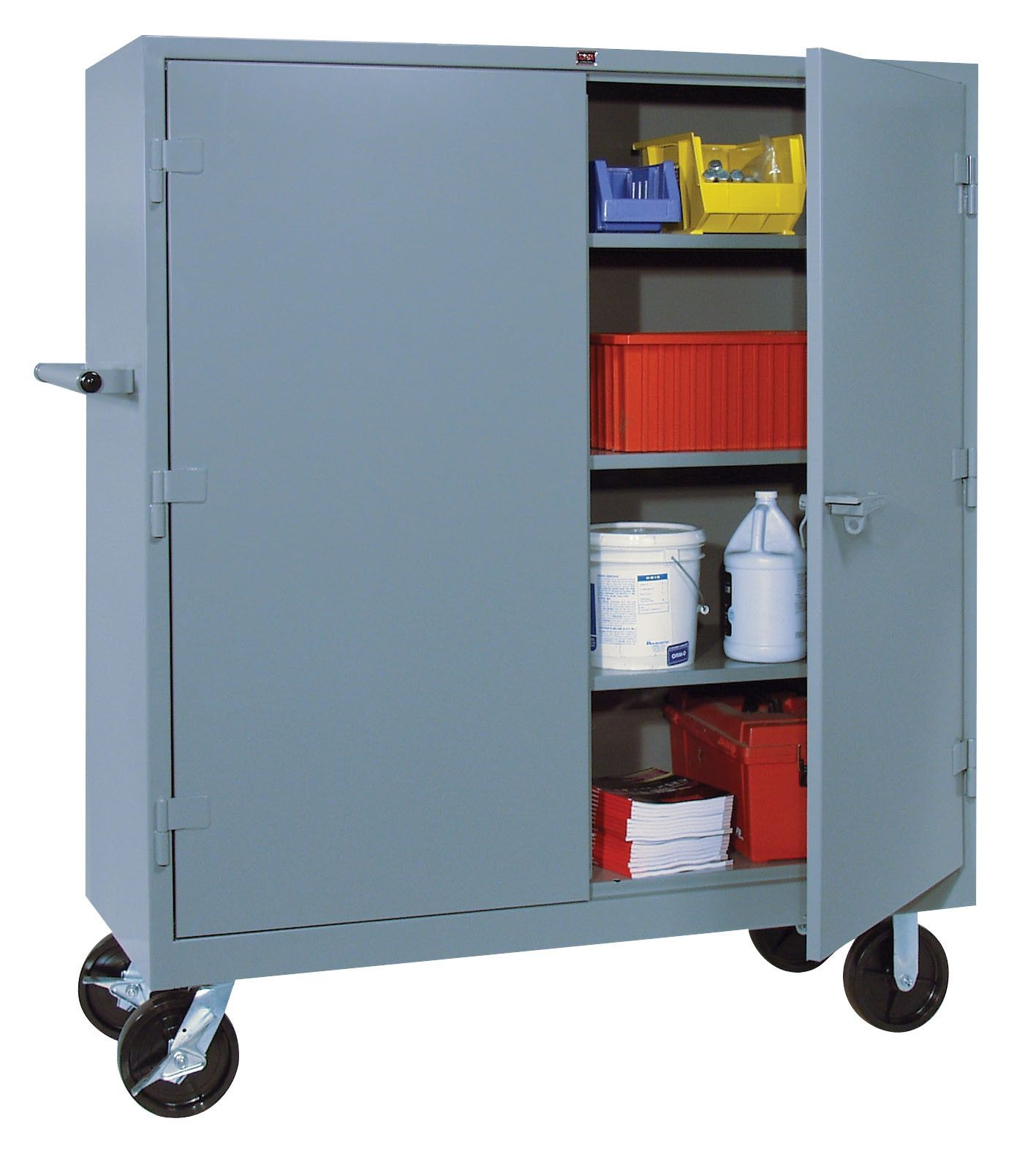 55 Mobile Storage Cabinet with Doors Corner Kitchen Cupboard